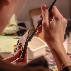 Stage de peinture avec Laetitia